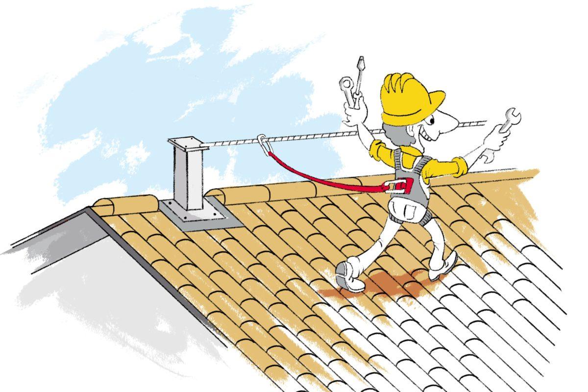 Dach mit Dachpfannen oder -Ziegel