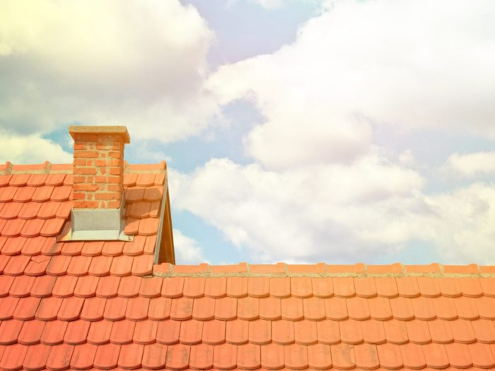 Clay roofing with tiles or shingles