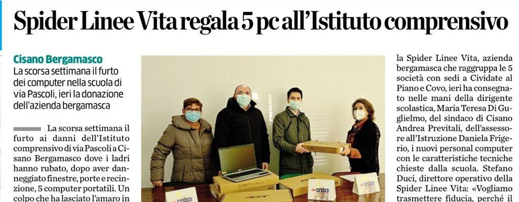 Donati 5 Computer all'Istituto Comprensivo di via Pascoli, Cisano Bergamasco